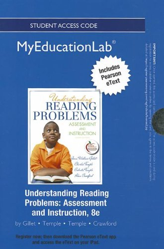 9780133053166: NEW MyEducationLab with Pearson eText -- Standalone Access Card -- for Understanding Reading Problems: Assessment and Instruction (myeducationlab (Access Codes))