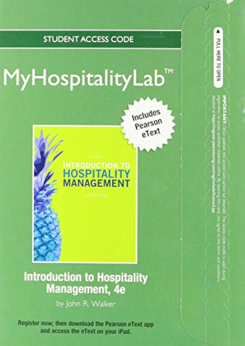 2012 MyHospitalityLab with Pearson eText -- Access Card -- for Introduction to Hospitality ...