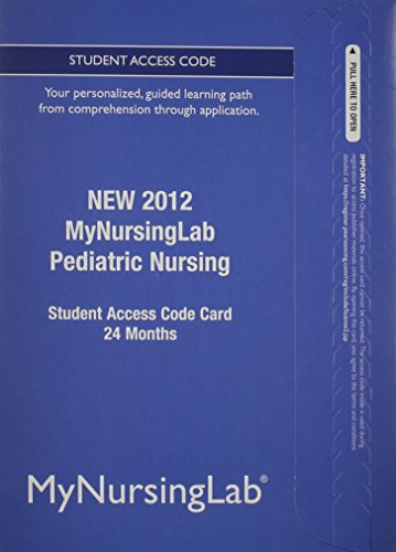9780133054279: NEW MyNursingLab -- Access Card -- for Pediatric Nursing (24-month access)
