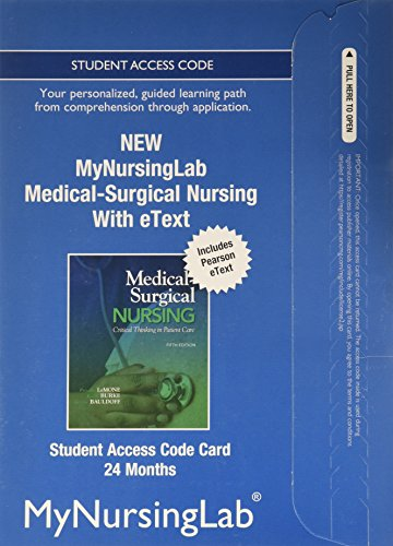 9780133054354: NEW MyNursingLab with Pearson eText -- Access Card -- for Medical-Surgical Nursing (24-month access)