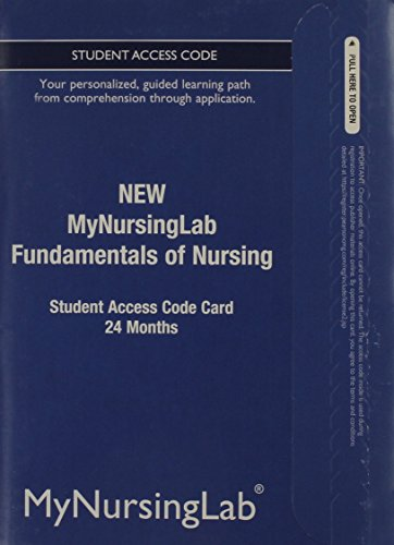9780133054460: NEW MyNursingLab -- Access Card -- for Fundamentals of Nursing (24-month access)