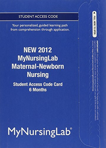 9780133054798: NEW MyNursingLab -- Access Card -- for Maternal-Newborn Nursing (6-month access)