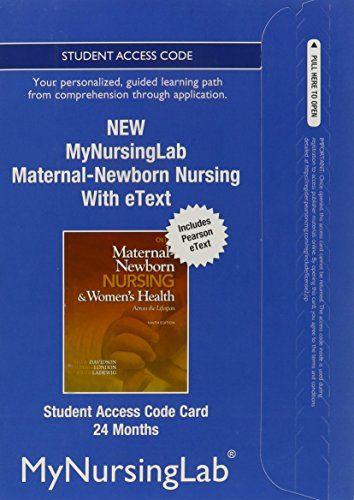 9780133054859: NEW MyNursingLab with Pearson eText -- Access Card -- for Maternal-Newborn Nursing (24-month access)