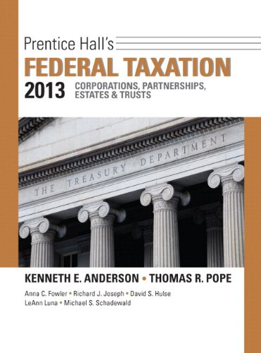 9780133055436: Prentice Hall's Federal Taxation 2013 + New Myaccountinglab With Pearson eText: Corporations, Partnerships, Estates & Trusts