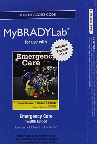 9780133055498: NEW MyBradyLab with Pearson eText -- Access Card -- for Emergency Care