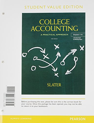 9780133056174: College Accounting Chapers 1-12, Student Value Edition, Study Guide & Working Papers, and NEW MyAccountingLab with Pearson eText