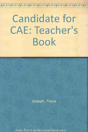 9780133056242: Candidate for CAE: Teacher's Book