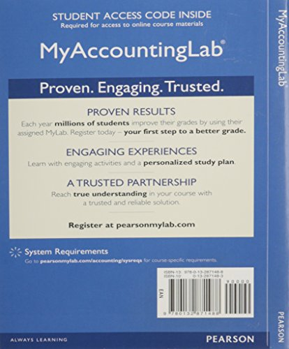 NEW MyAccountingLab with Pearson eText -- Access: Horngren, Charles T.^Sundem,