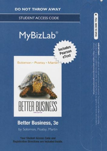 9780133059441: NEW MyBizLab with Pearson eText -- Access Card -- for Better Business