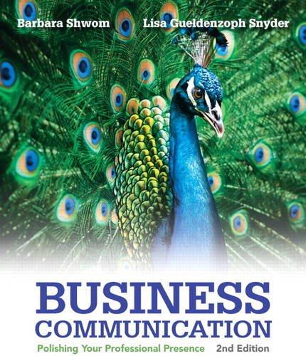 9780133059519: Business Communication: Polishing Your Professional Presence (2nd Edition)