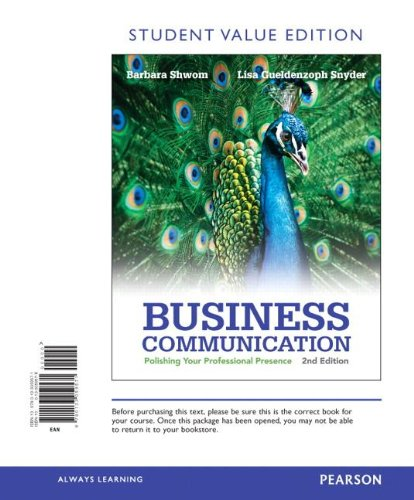 9780133059571: Business Communication: Polishing Your Professional Presence, Student Value Edition (2nd Edition)