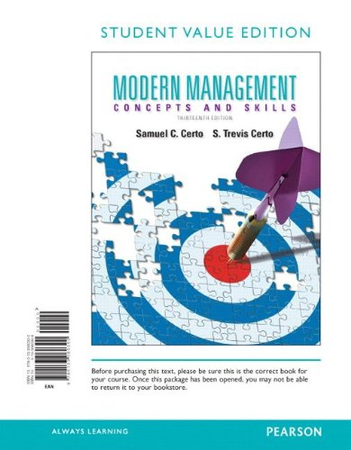 9780133060300: Modern Management, Student Value Edition (13th Edition)