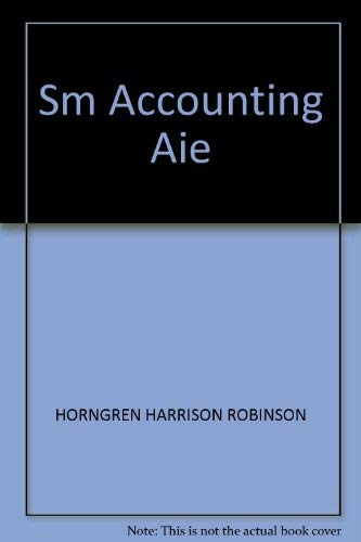 9780133060515: Sm Accounting Aie