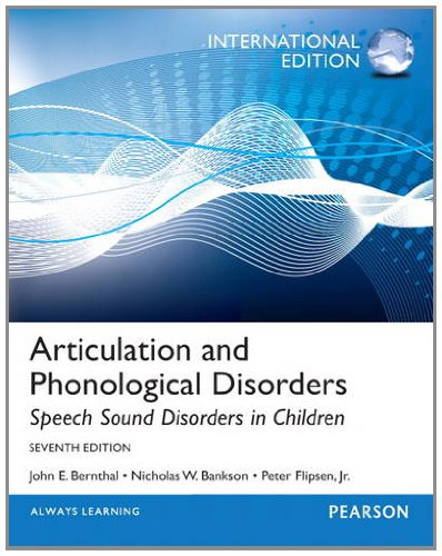 9780133061468: Articulation and Phonological Disorders:Speech Sound Disorders in Children: International Edition