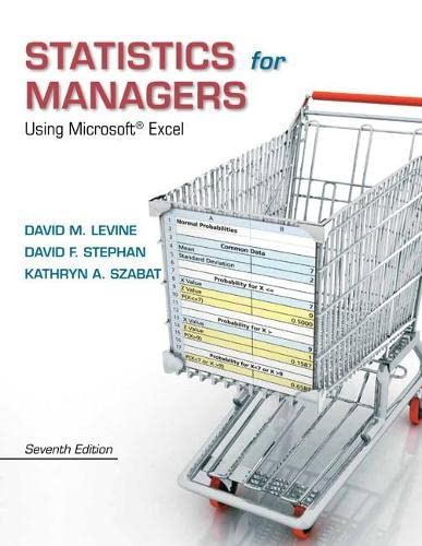 Statistics for Managers Using Microsoft Excel (7th: Szabat, Kathryn A.,