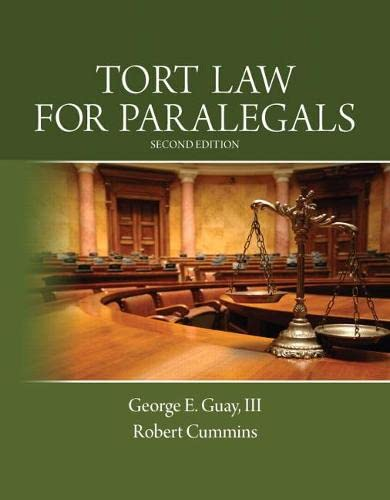 9780133067941: Tort Law for Paralegals: (2nd Edition)