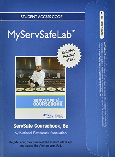 9780133068146: NEW MyServSafeLab with Pearson eText -- Access Card -- for ServSafe Coursebook (MyServSafeLab (Access Codes))
