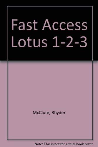 9780133075212: Fast Access Lotus 1-2-3