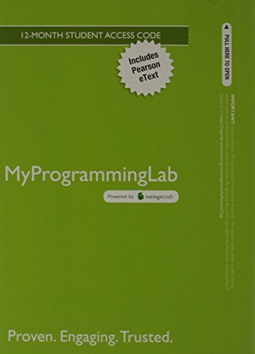 9780133075939: MyProgrammingLab with Pearson eText -- Access Card -- for Starting Out with Python (MyProgrammingLab (Access Codes))