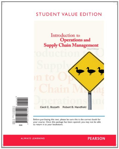 9780133076226: Introduction to Operations and Supply Chain Management, Student Value Edition (3rd Edition)