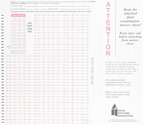 9780133076592: Scantron (AHLEI) (AHLEI - Hospitality Accounting / Financial Management)