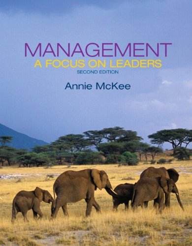 Management: A Focus on Leaders (2nd Edition): McKee, Annie