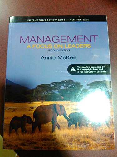 9780133077551: Management a Focus on Leaders Second Edition Instructor's Review Copy
