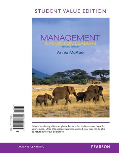 9780133077612: Management: A Focus on Leaders, Student Value Edition (2nd Edition)