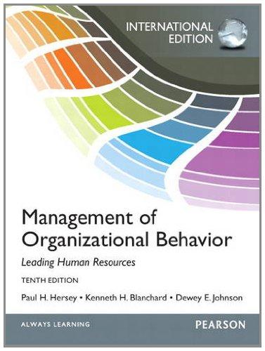 9780133080476: Management of Organizational Behavior