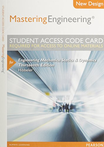 9780133083262: Modified MasteringEngineering -- Access Card -- for Engineering Mechanics: Statics & Dynamics (13th Edition)