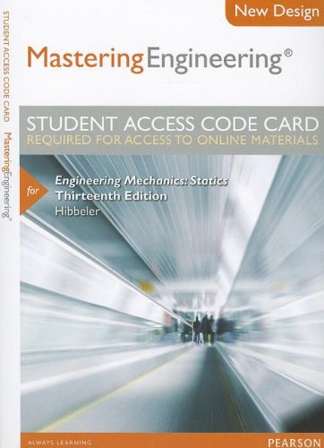 9780133083279: Modified MasteringEngineering without Pearson eText -- Access Card -- for Engineering Mechanics: Statics (13th Edition)