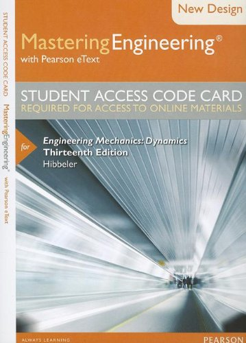 9780133083316: Modified MasteringEngineering with Pearson eText -- Access Card --for Engineering Mechanics: Dynamics (13th Edition)