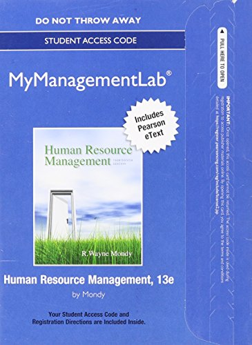 9780133086737: NEW MyManagementLab with Pearson eText -- Access Card -- for Human Resource Management