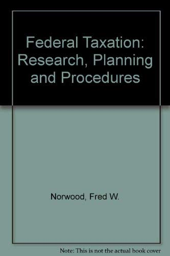 9780133087758: Federal Taxation: Research, Planning and Procedures (Prentice-Hall series in taxation)