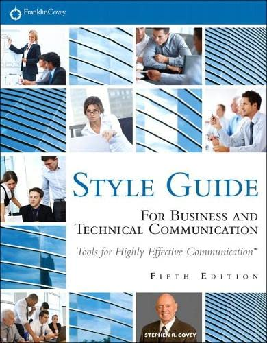 FranklinCovey Style Guide: For Business and Technical: Covey, Stephen R.