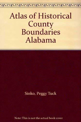 9780133095685: Atlas of Historical County Boundaries Alabama