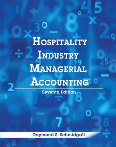 Hospitality Industry Managerial Accounting with Answer Sheet: Schmidgall, Raymond S.;