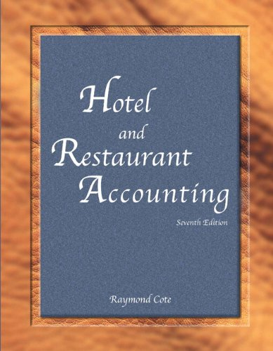 9780133097306: Hotel and Restaurant Accounting with Answer Sheet (Ahlei) (Ahlei - Hospitality Accounting / Financial Management)