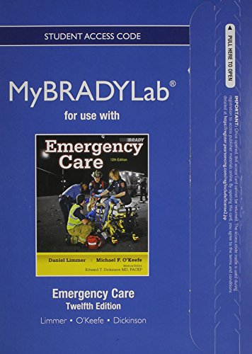 9780133098358: NEW MyBradyLab without Pearson eText -- Access Card -- for Emergency Care