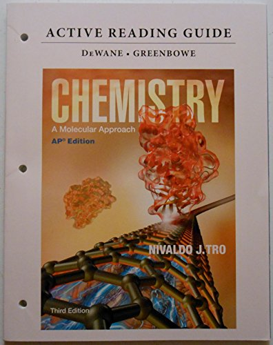 9780133101584: Active Reading Guide for AP Chemistry: A Molecular Approach Third Edition