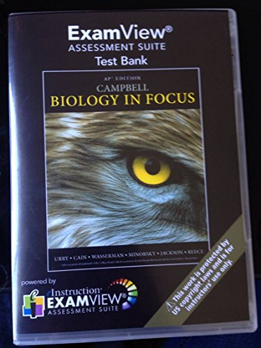 9780133103229: Campbell Biology in Focus AP Edition Examview Test Bank Assessment Suite