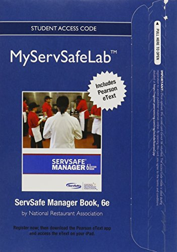 9780133104073: ServSafe Exam Answer Sheet for Pencil/ Paper Exam Plus NEW MyServSafeLab with Pearson eText -- Access Card Package (6th Edition)