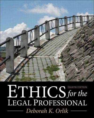 9780133109290: Ethics for the Legal Professional (8th Edition)