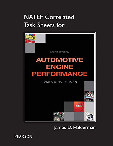 9780133111453: Automotive Engine Performance: NATEF Correlated Task Sheets