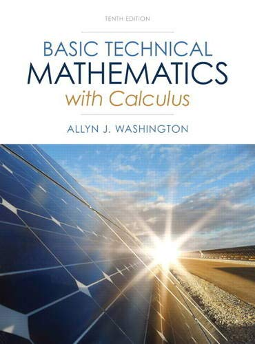 9780133116533: Basic Technical Mathematics with Calculus (10th Edition)