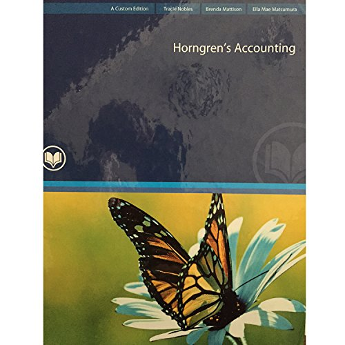 9780133117448: Horngren's Accounting 10th Edition