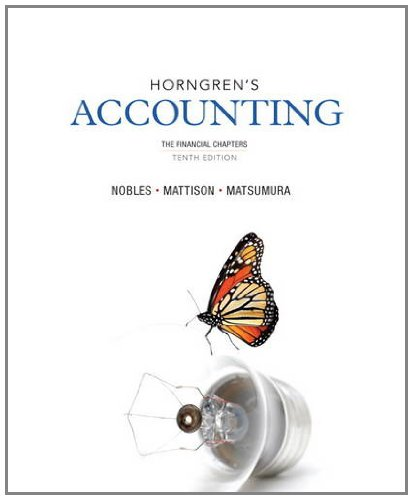 9780133117561: Horngren's Accounting, The Financial Chapters (10th Edition)