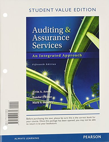 9780133125689: Auditing and Assurance Services, Student Value Edition (15th Edition)- Standalone Book