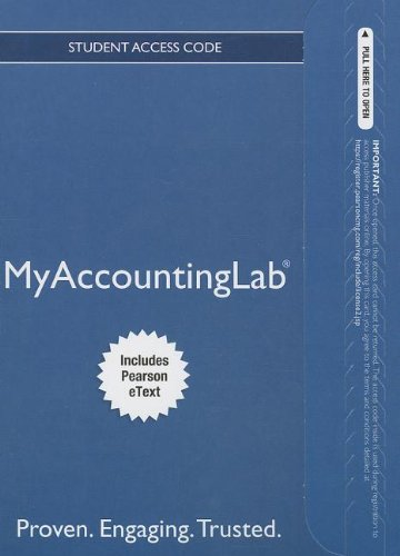 NEW MyAccountingLab with Pearson eText-- Standalone Access Card -- for Horngren's Accounting, The Financial Chapters (MyAccountingLab (Access Codes)) (0133127095) by Miller-Nobles, Tracie L.; Mattison, Brenda L.; Matsumura, Ella Mae