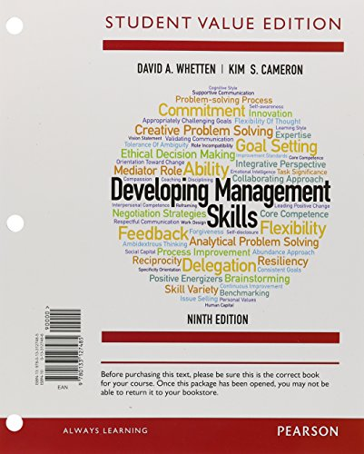 9780133127485: Developing Management Skills, Student Value Edition (9th Edition)